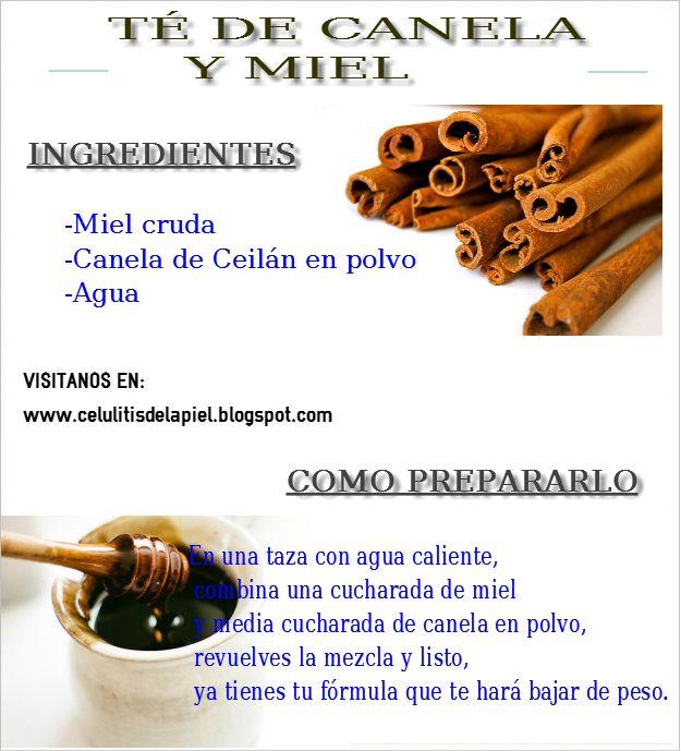 PREPARADO DE TE DE CANELA CON MIEL http://celulitisdelapiel.blogspot.com.es/2014/07/sabias-que-la-canela-te-puede-ayudar.html