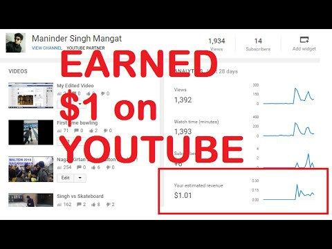 How To Get Money On Youtube Views