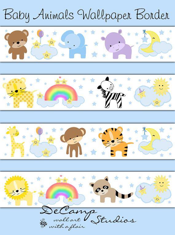 Summer Collection By Victoria Romanova On Etsy Nursery Borders Wall Baby Animal