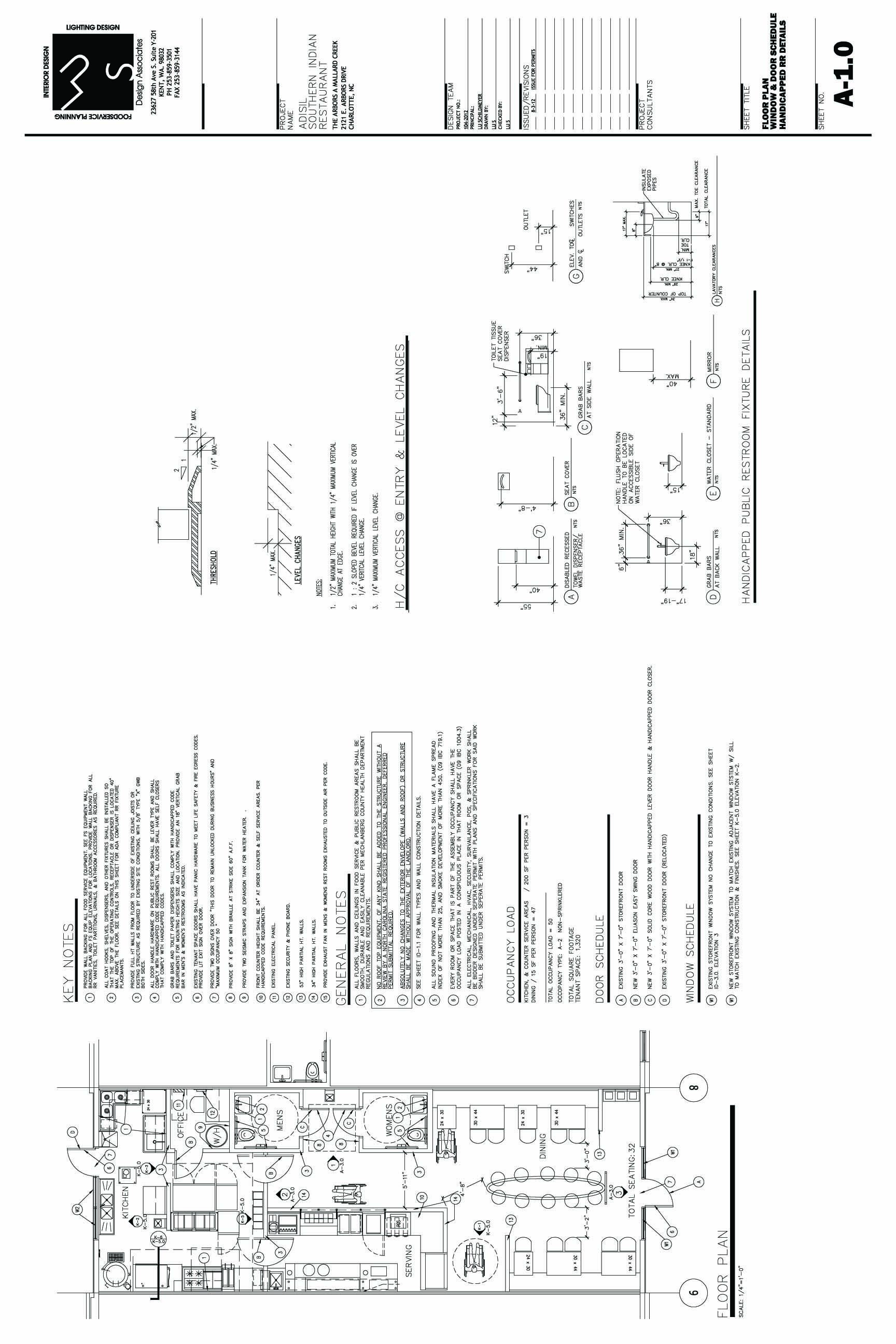 Adisil CD Floor Plan With Notes Designed By LU S Design