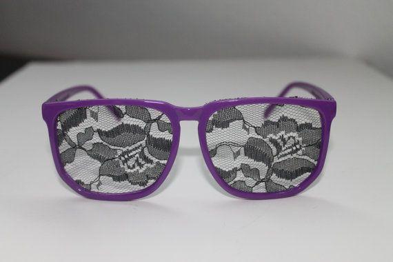 nerd lace glasses purple