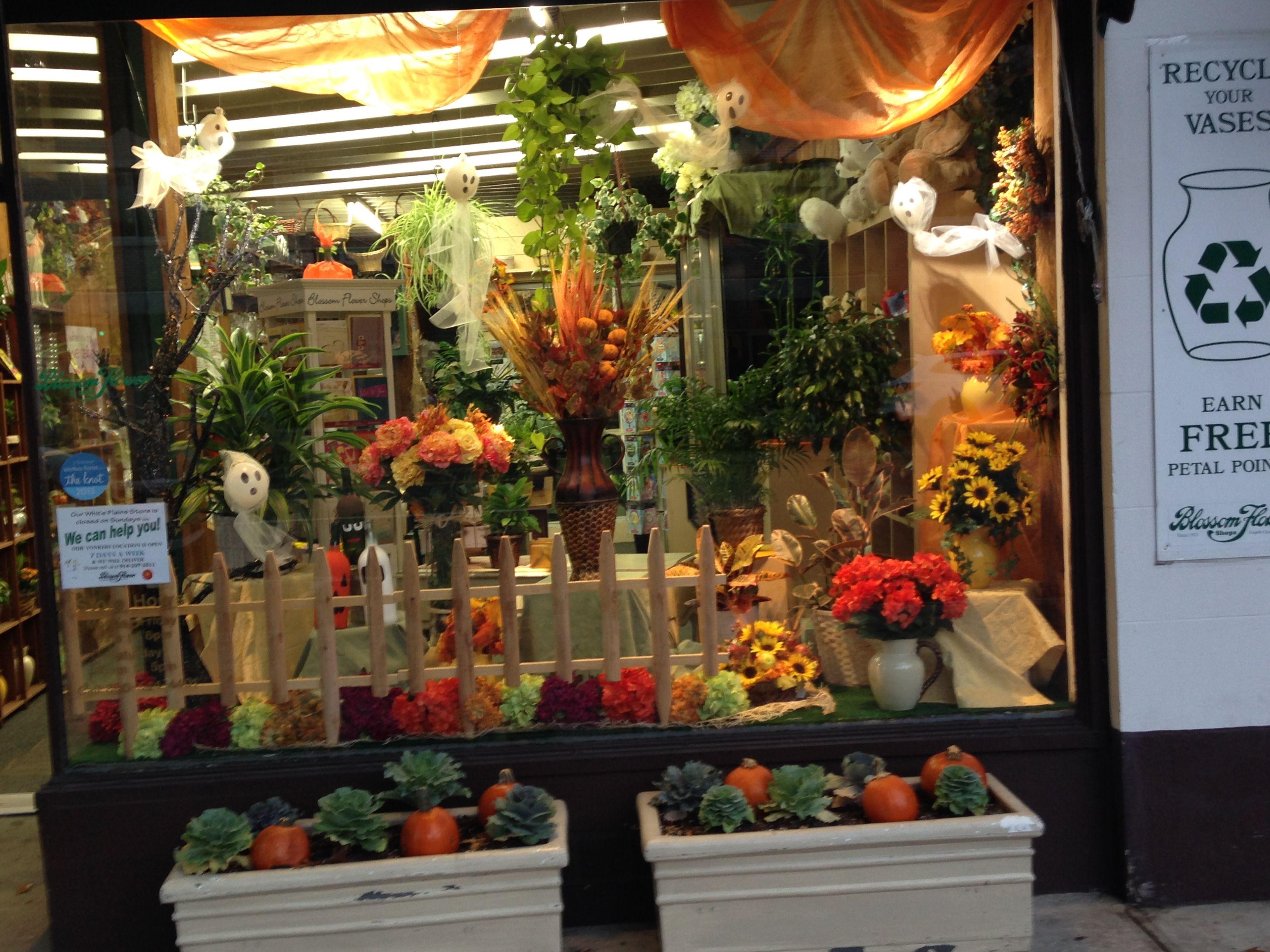 Halloween 2014 Blossom Flower Shops White Plains Windows At