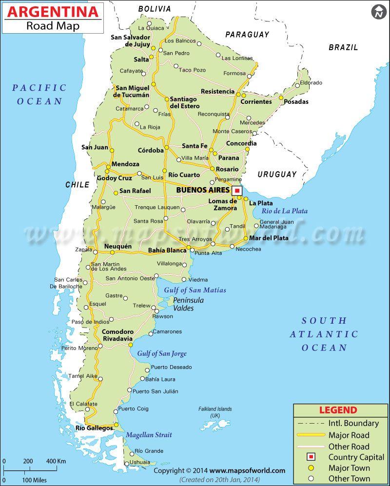 argentinaroadmap Travel Pinterest Argentina