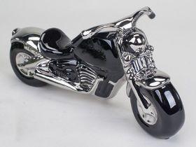 Modell Motorrad, 31 cm, schwarz/silber Schwarz, Silber