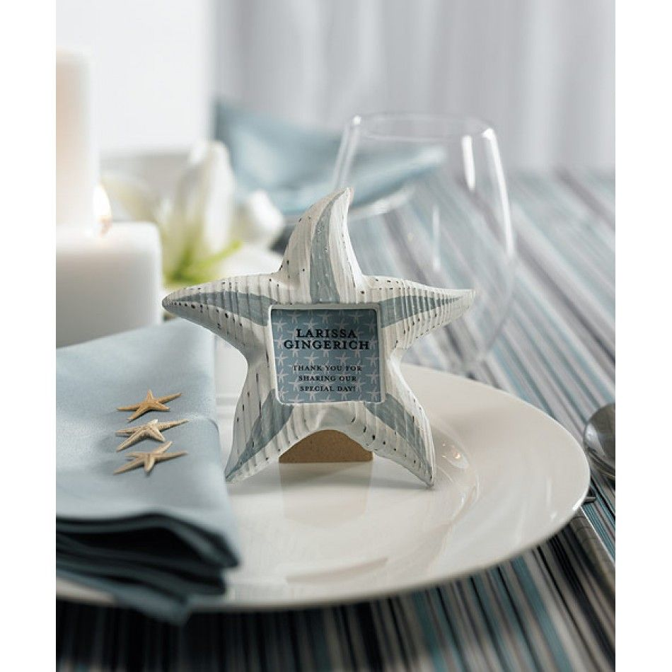Small Wooden Beach Wedding Starfish Photo Frame Favors (Packs of 8 ...