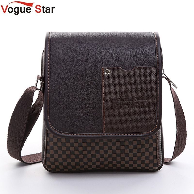 Vogue Star 2017 New hot sale PU Leather Men Bag Fashion Men Messenger Bag  small Business 1ef72a743cbe3