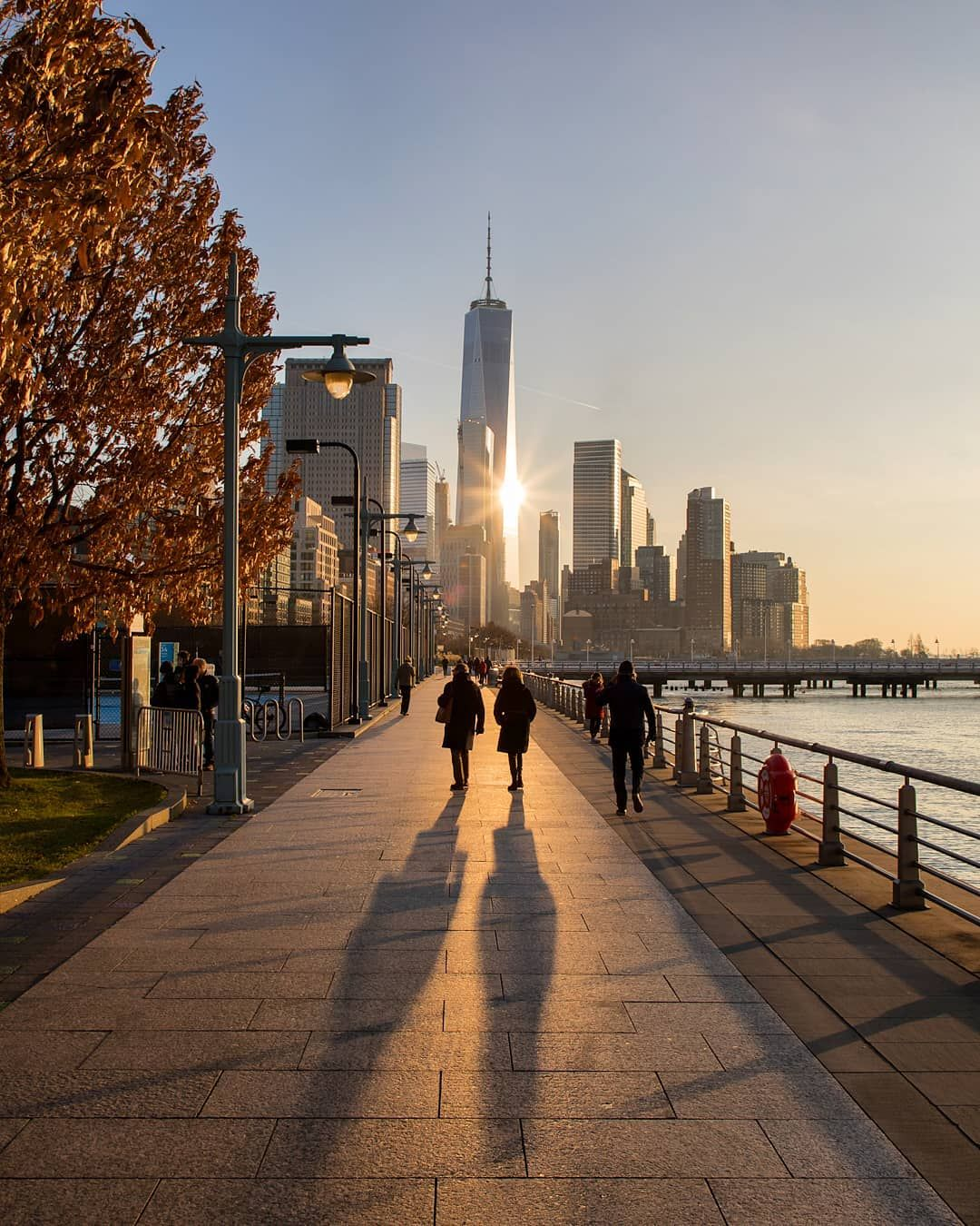 Manhattan To New York City: Golden Hour On The West Side Of Manhattan