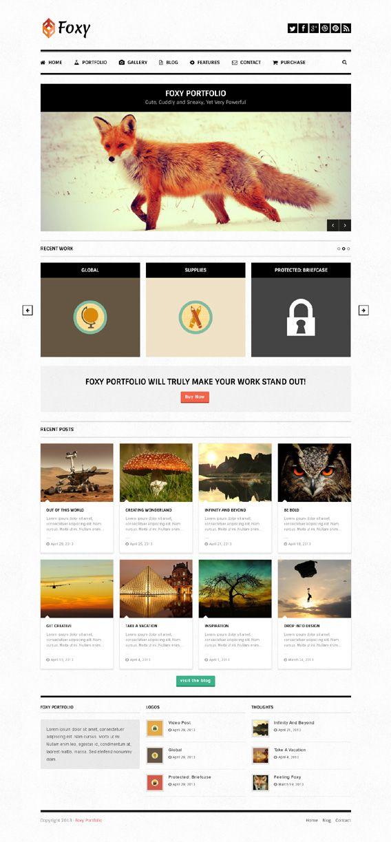 Foxy, WordPress Responsive Portfolio Theme