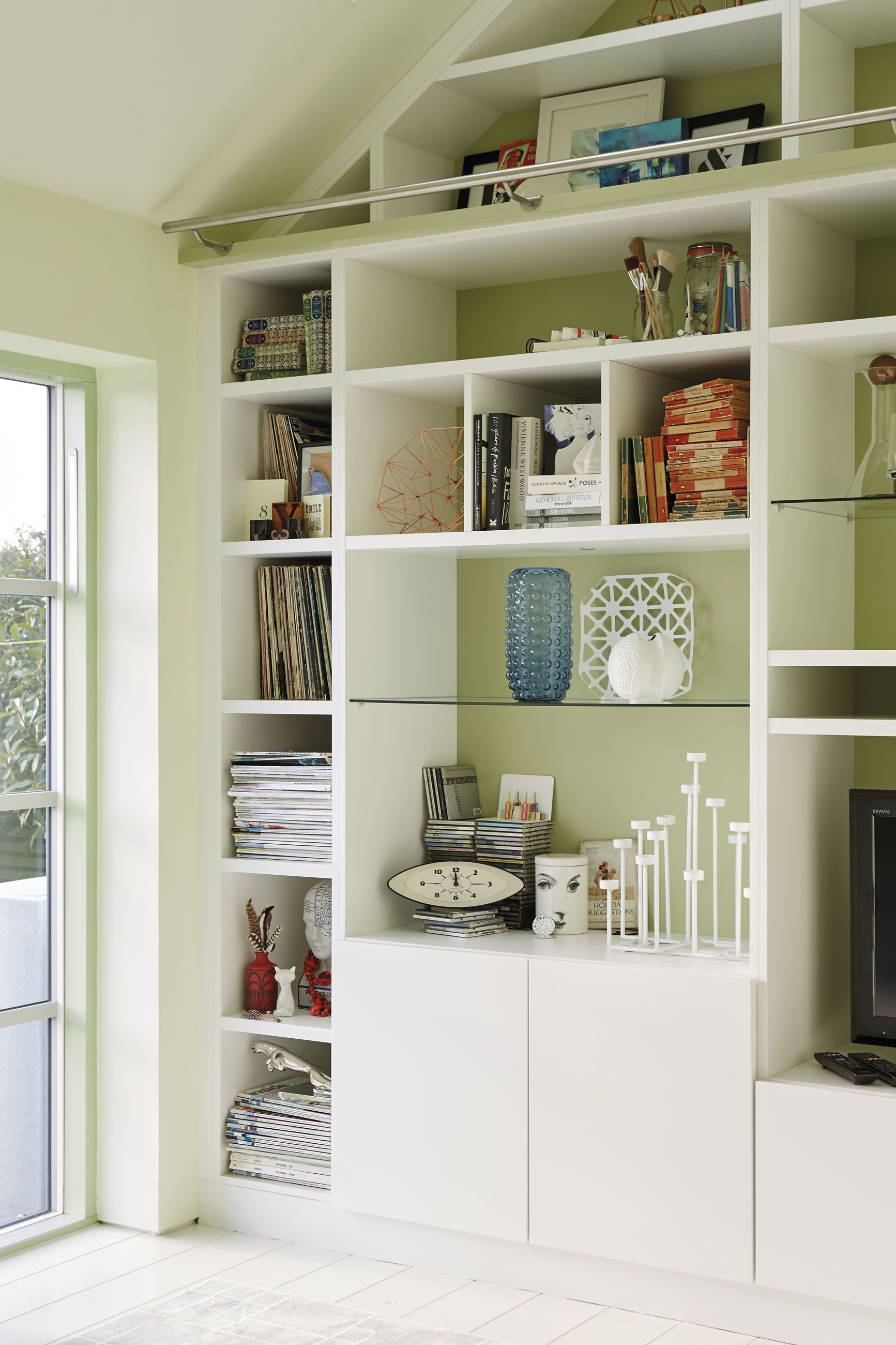 Olkd Study Room: Small Remodel, Large Bookcase, Small