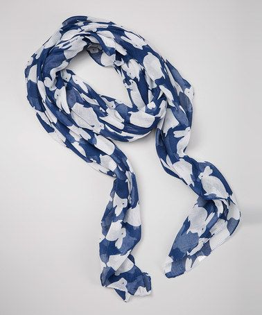 Love this Dark Blue Bunny Scarf by Owl Bee Mod on #zulily! #zulilyfinds