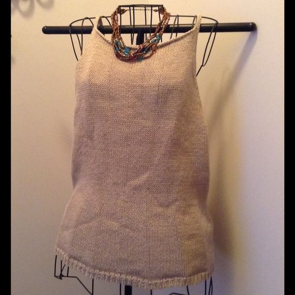 Large soft Knit tank soo many uses Tag says XL wears more like a Large. Used in excellent condition. 100% cotton Willi Smith Tops Tank Tops