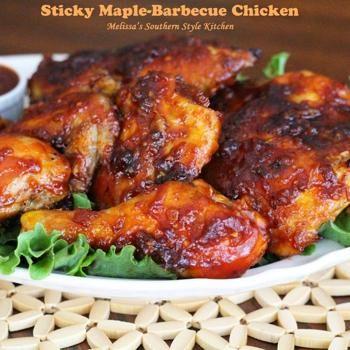 Sticky Maple-Barbecue Chicken