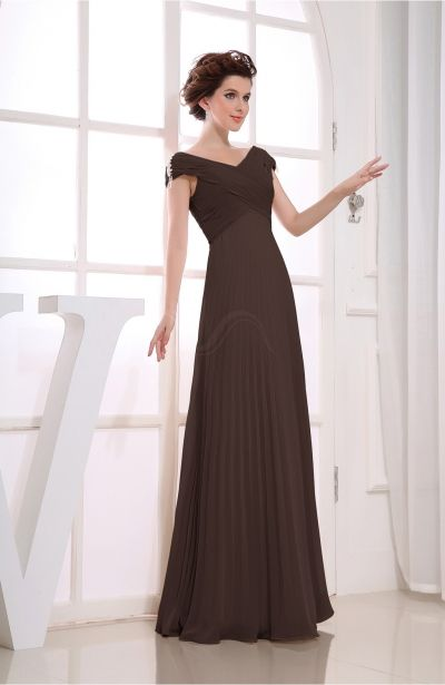 Floor Length Brown Dress