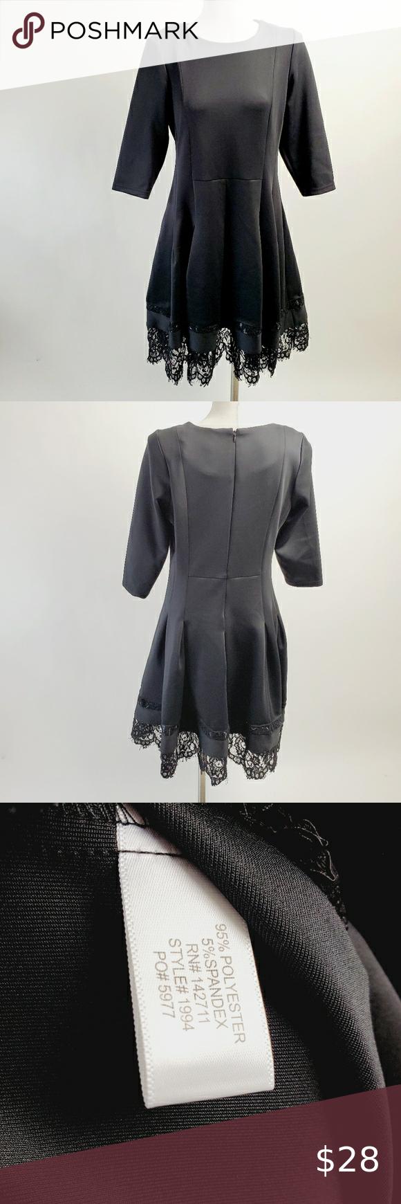 Eloquii Size 16 Black Dress Long Sleeve Knit Dress Long Sleeve Wrap Dress Elegant Wrap Dress [ 1740 x 580 Pixel ]