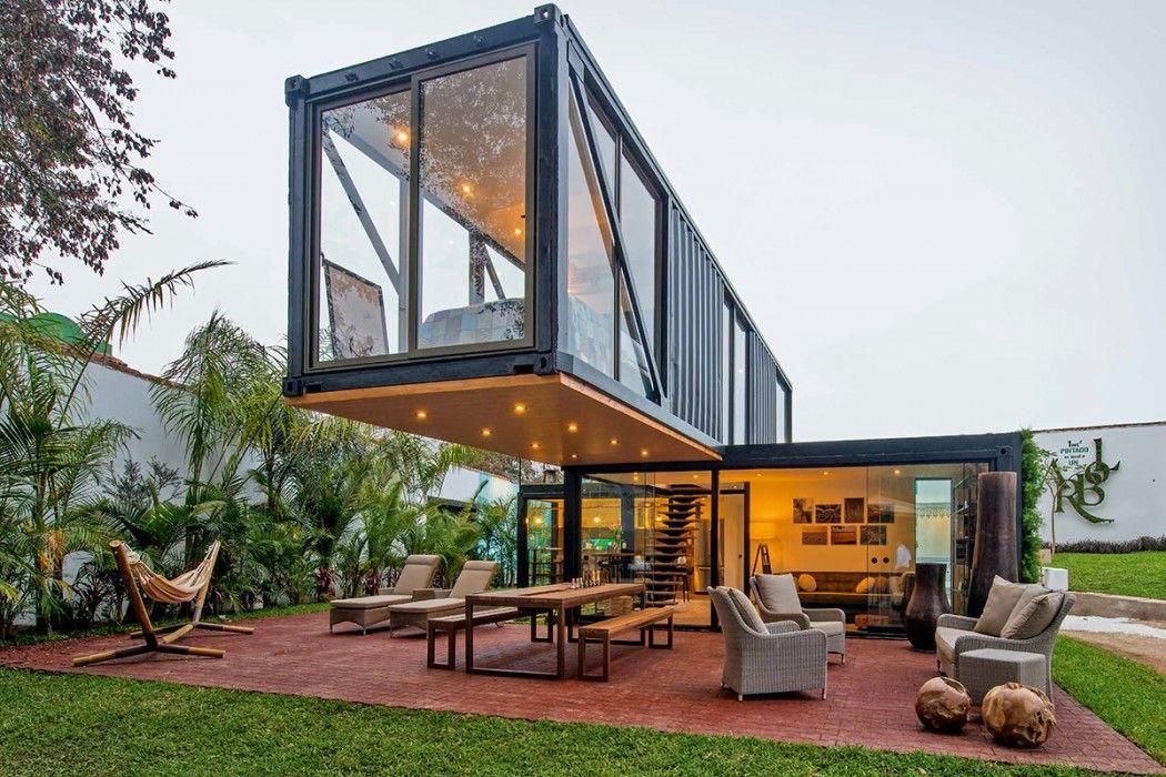 Casas construidas con contenedores marítimos… | negocio | Pinterest ...