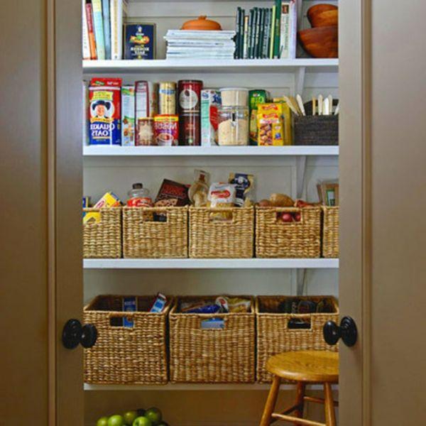 Organisation Küche unordentliche Köche korb regale Struktur hilft - Wohnzimmer Ideen Zum Selber Machen