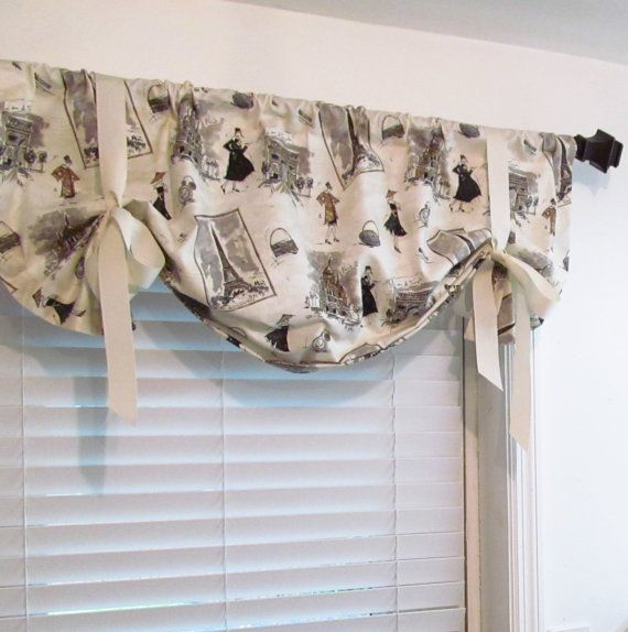 High Quality Balloon Shades Tie Up Curtain Valance Vintage By Supplierofdreams