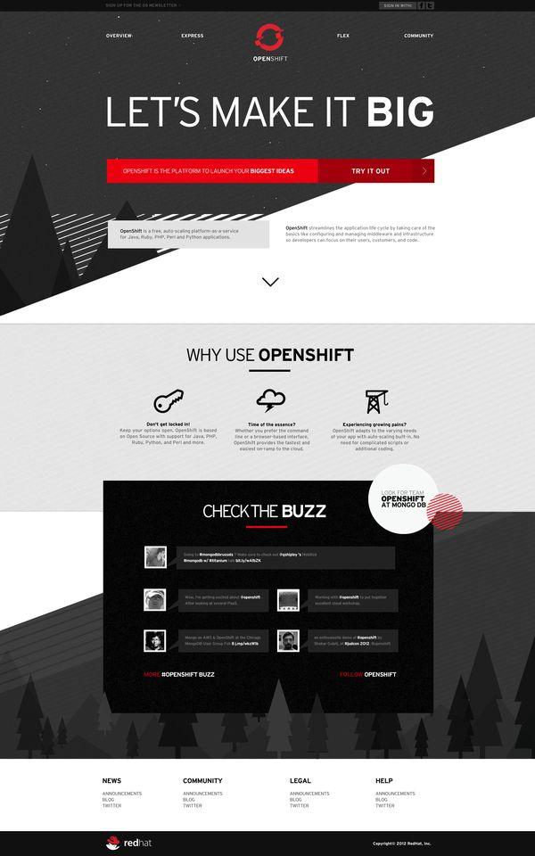 Openshift   Designer: Douglas Hughmanick   Web design   Pinterest ...