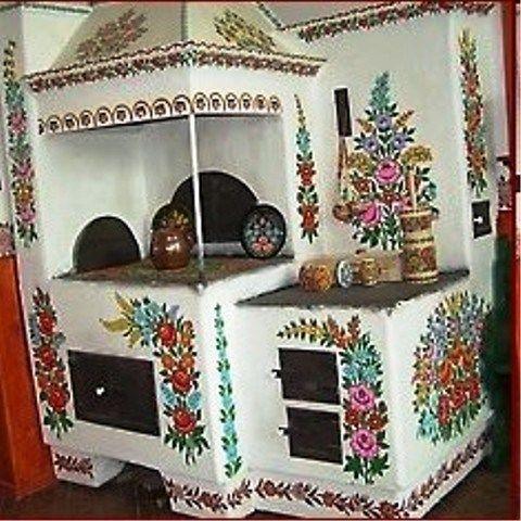 Le Folklore Polonais Zalipie Village De Peintres Art Populaire Polonais Decoration Decoration Interieure