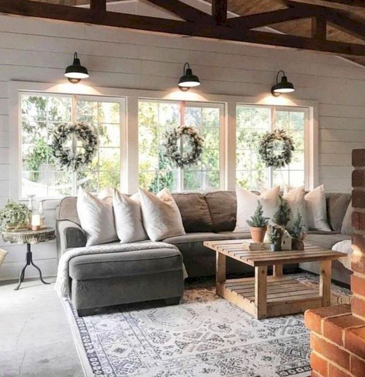 beautiful farmhouse living room design ideas livingroomideas livingroomdecor livingroomdecorideas also cozy all white decor rustic livingroom rh pinterest