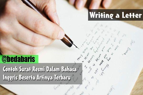 Contoh Surat Resmi Dalam Bahasa Inggris Beserta Artinya Terbaru
