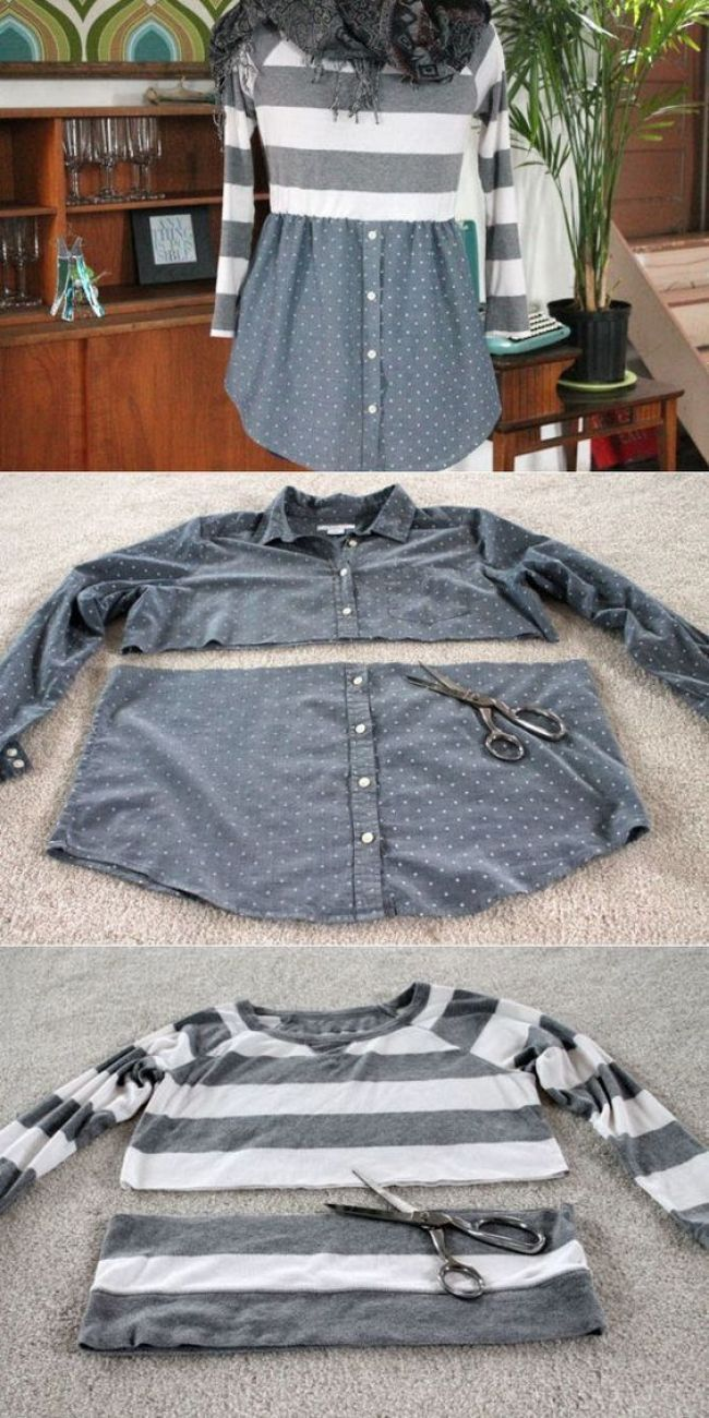 Inspiration Image of Diy Sewing Projects Clothes Diy Sewing Projects Clothes Maglia E Camicia Rivisitate Pinterest Sewing Diy Informations About Inspiration Image of Diy...