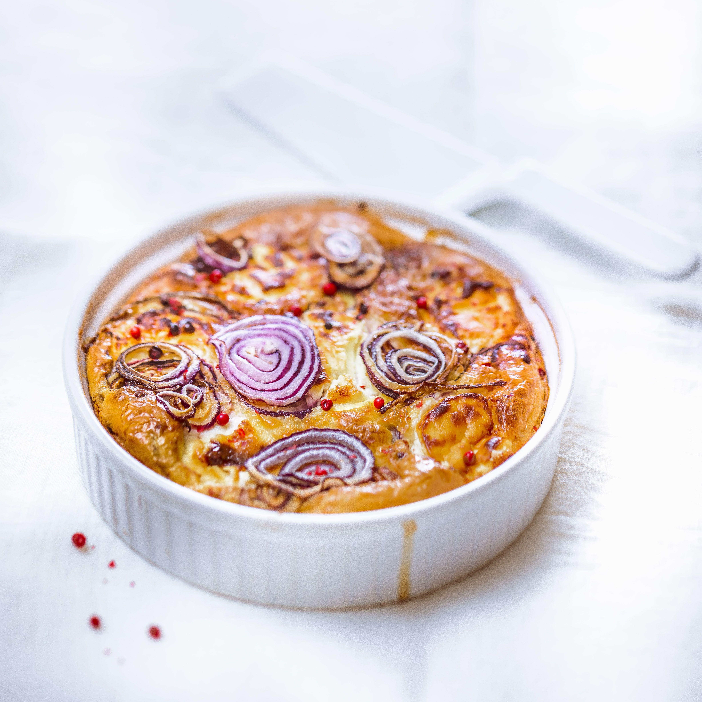 Quiche Sans Pate Aux Oignons Rouges Et Chevre Par Moulinex Cuisine