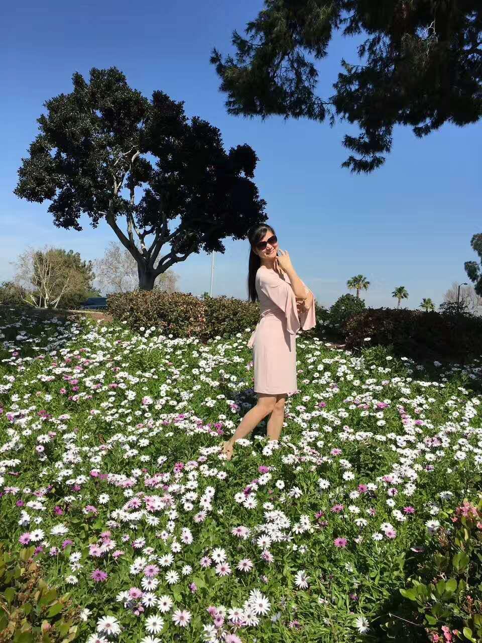 与春天来个美的约会 门前的一块山坡空地上野花浪漫 人生无处不风景 life
