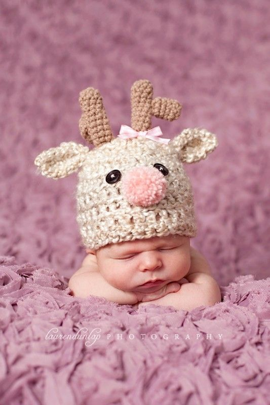 a9f314dc2812b Reindeer hat. Presh! | crochet | Baby boy newborn, Baby boy or girl ...