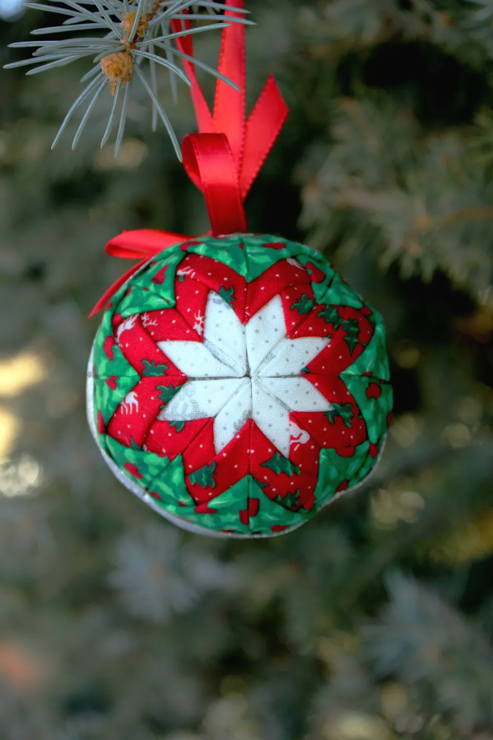 Fabric Star Quilted Christmas Ornament Pattern Quilted Christmas Ornaments Christmas Ornament Pattern Fabric Christmas Ornaments
