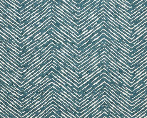 Cameron Home Decor Fabric   Aquarius Teal And White