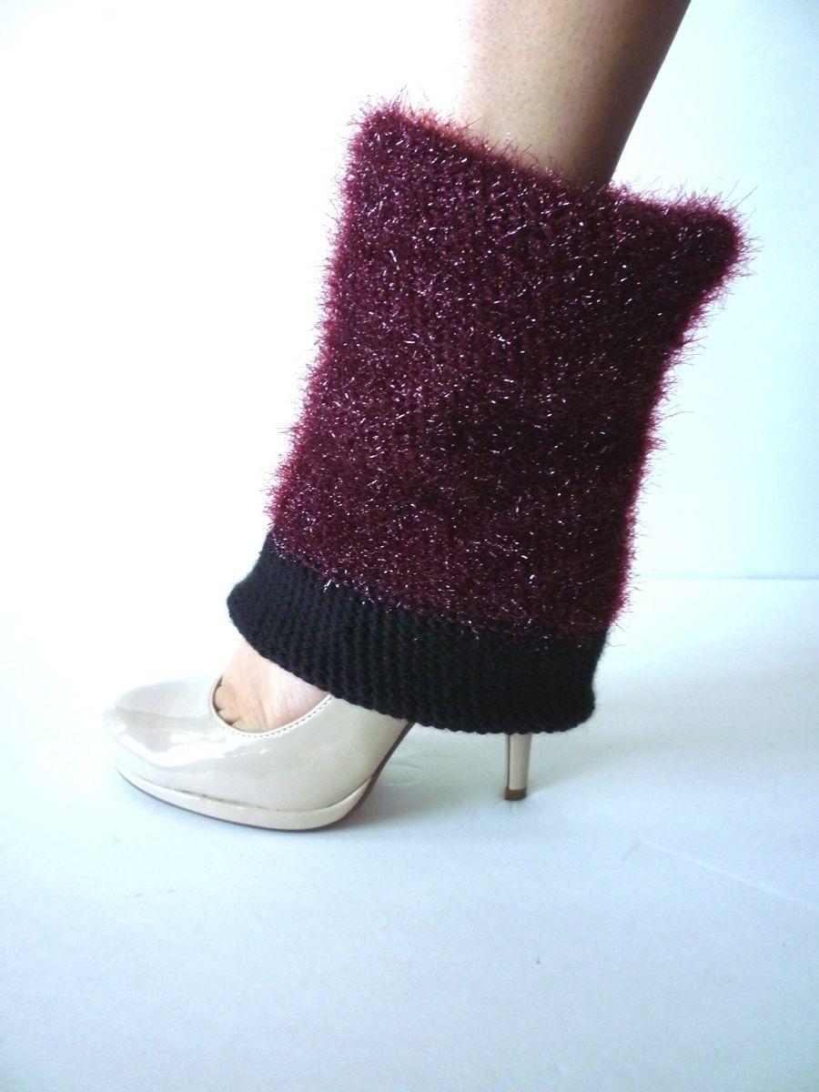 Sparkling Wine Crochet Leg Warmers - 100% Handmade