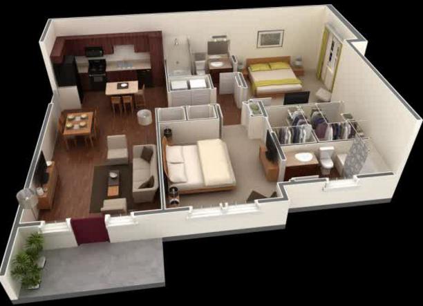 Denah rumah minimalis type  bhk house plan small plans floor also home design in pinterest rh