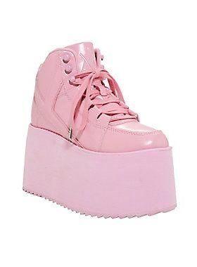 newest 2f6ae f11f4 YRU Qozmo Hi-Pink Platform Sneakers   Plateauschuhe in 2019 ...