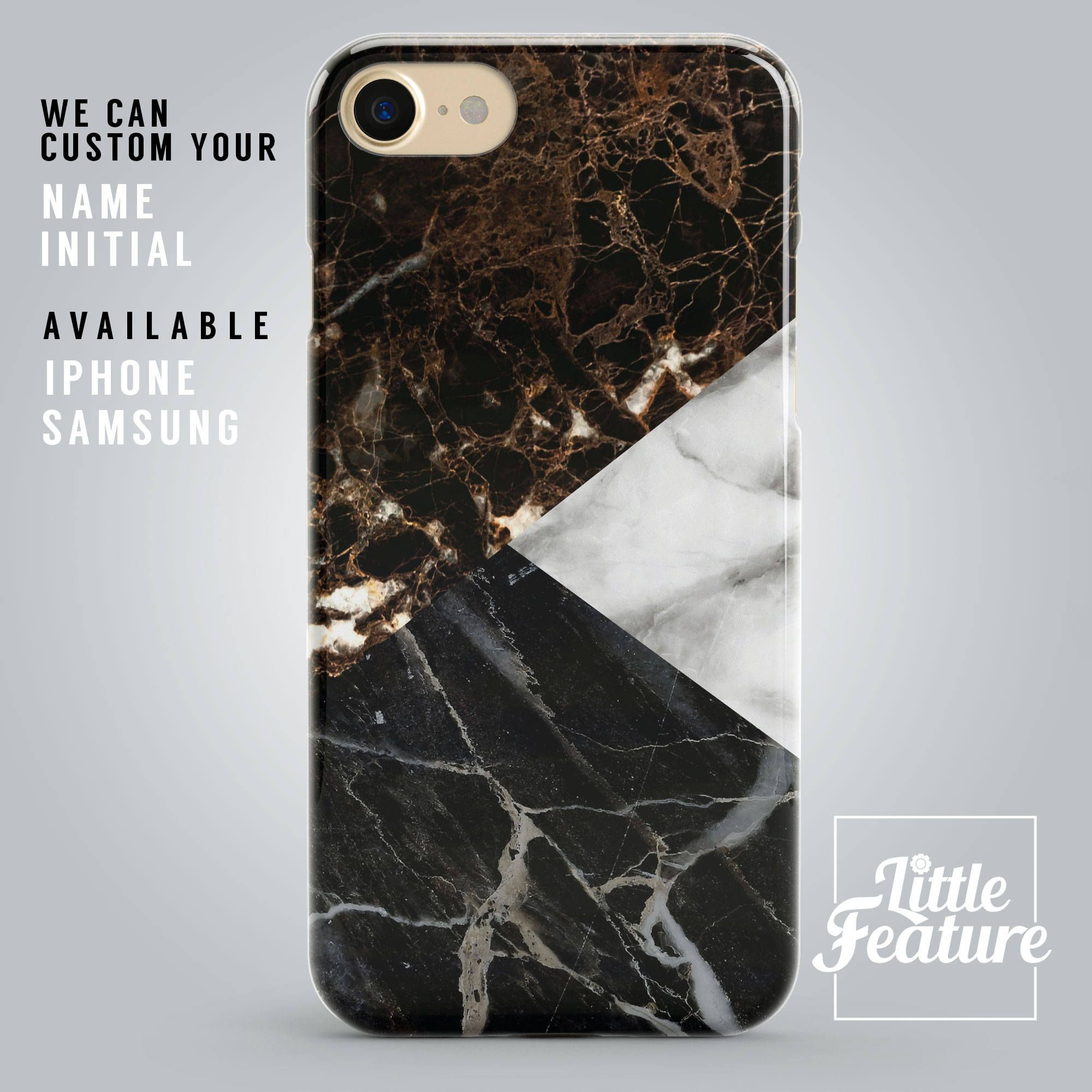 marble initial phone case iphone 7 plus