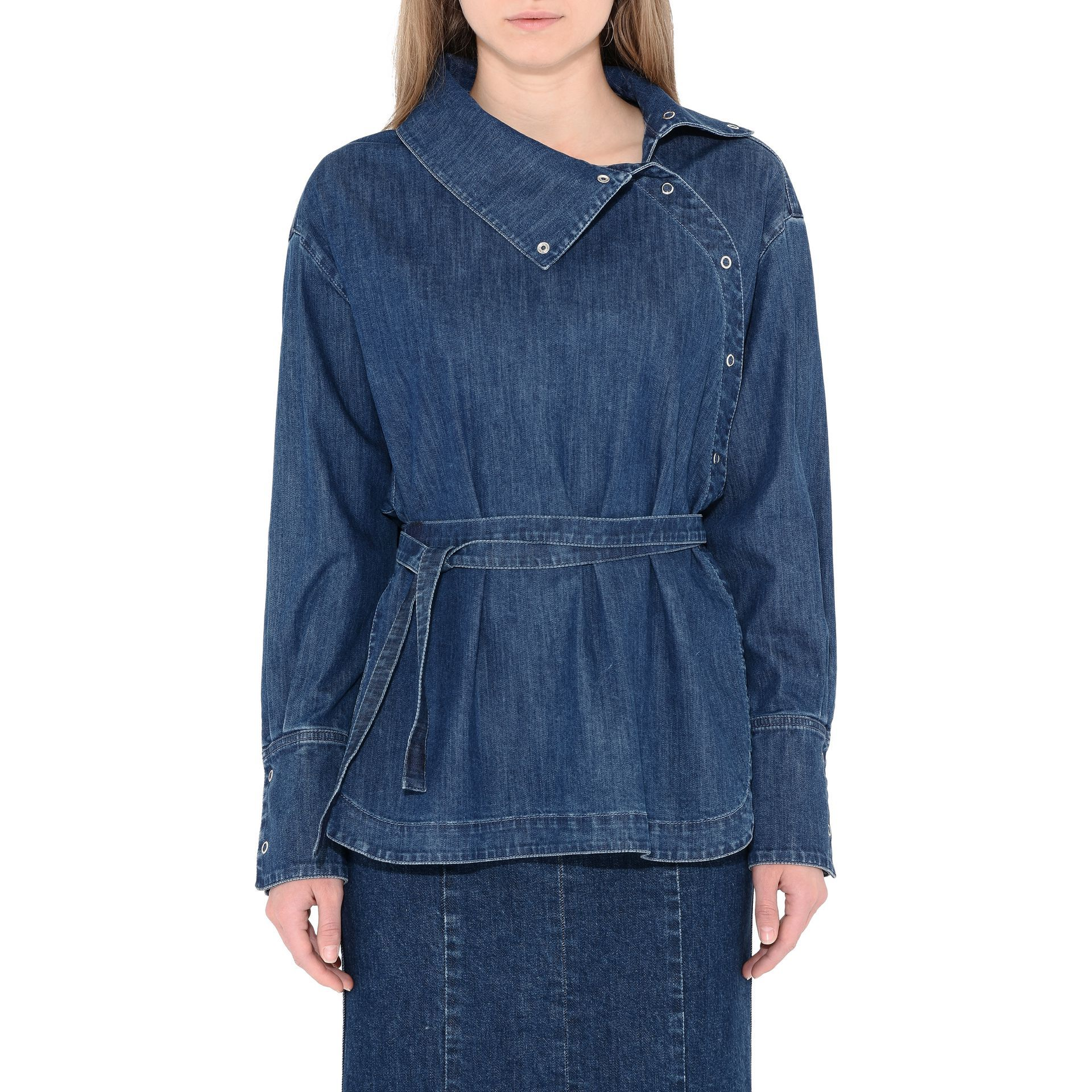 b1549dbc5c Denim Wrap Shirt - STELLA MCCARTNEY
