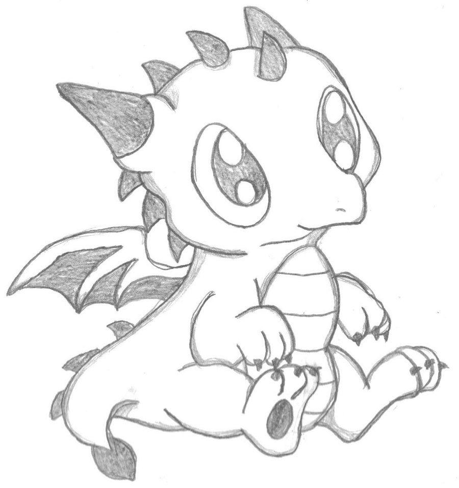 Chibi Dragon By Crystal2riolu Deviantart Com On Deviantart Easy Dragon Drawings Cute Dragon Drawing Dragon Drawing