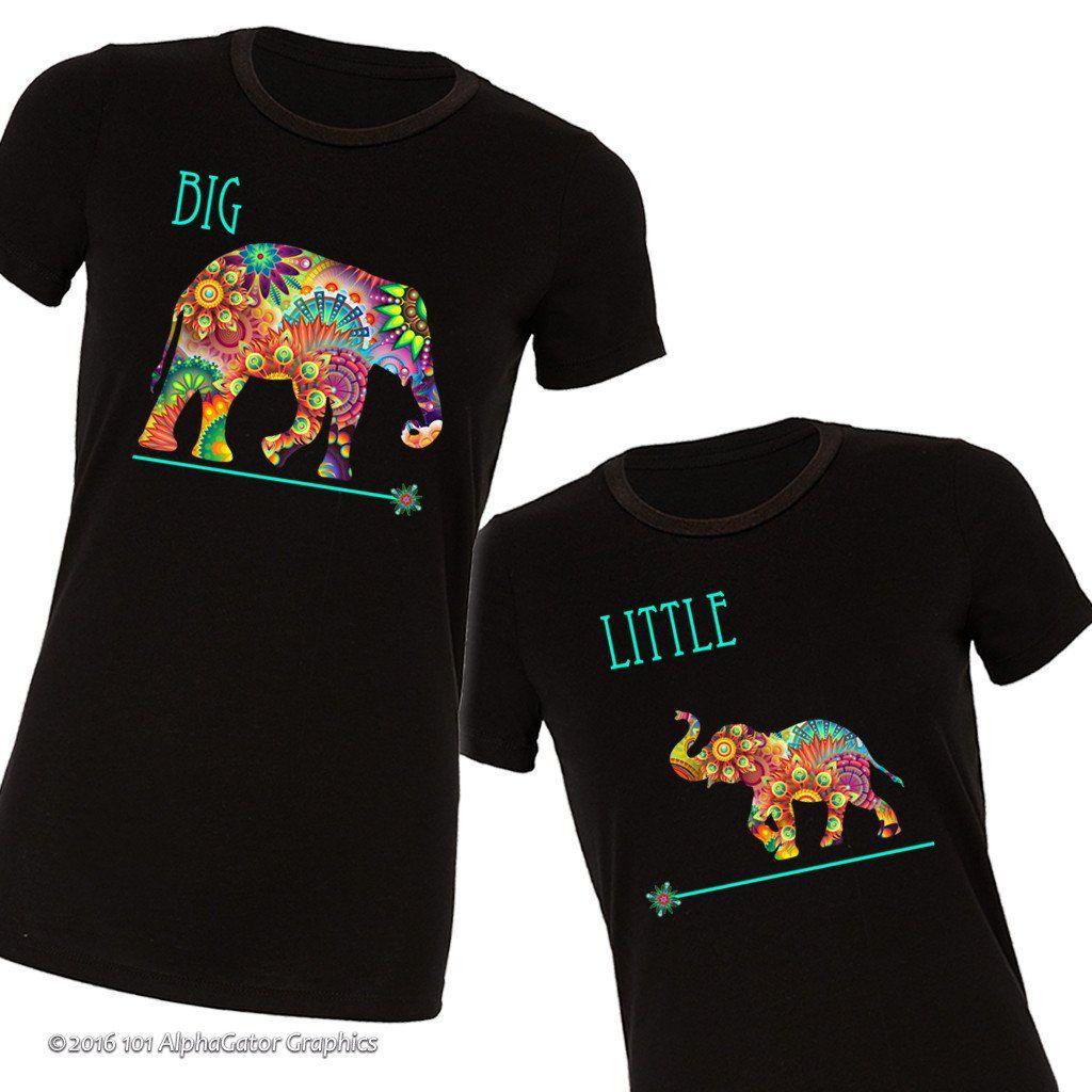 6291dbb8db6f Big Little Elephant T-Shirts Sorority