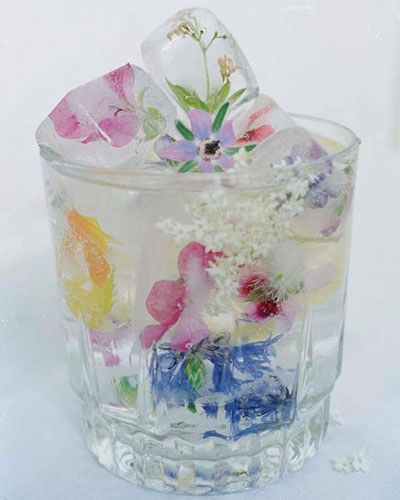 Flower ice cubes! <3