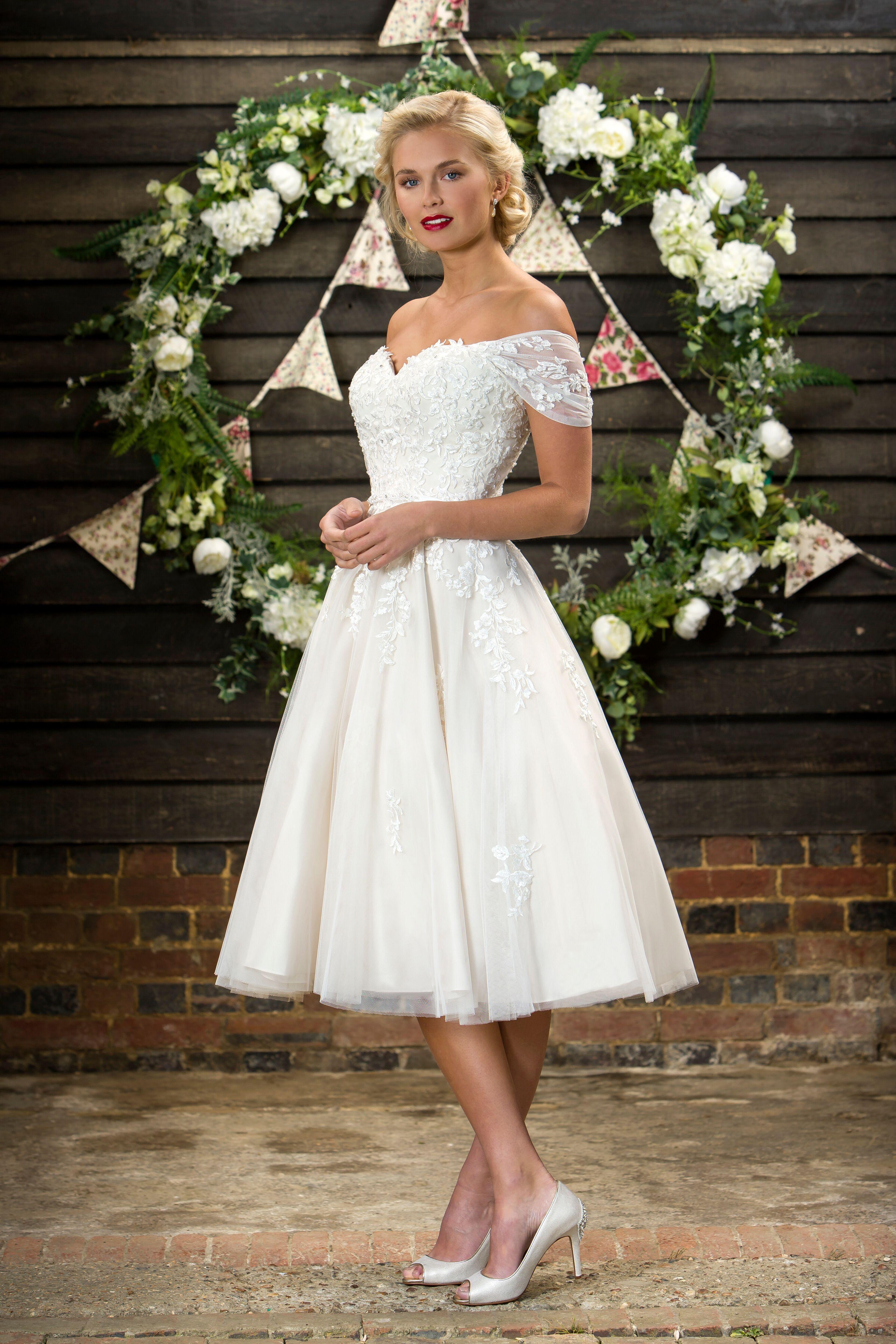 Brighton Belle Madison Tea Length Wedding Dress Vintage Short Wedding Dress Vintage Belle Wedding Dresses [ 5000 x 3333 Pixel ]