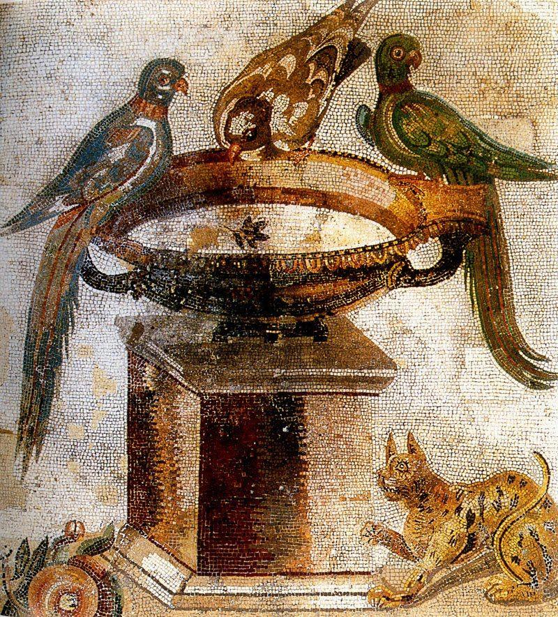 древнеримские украшения с птицами в картинках еще характерен