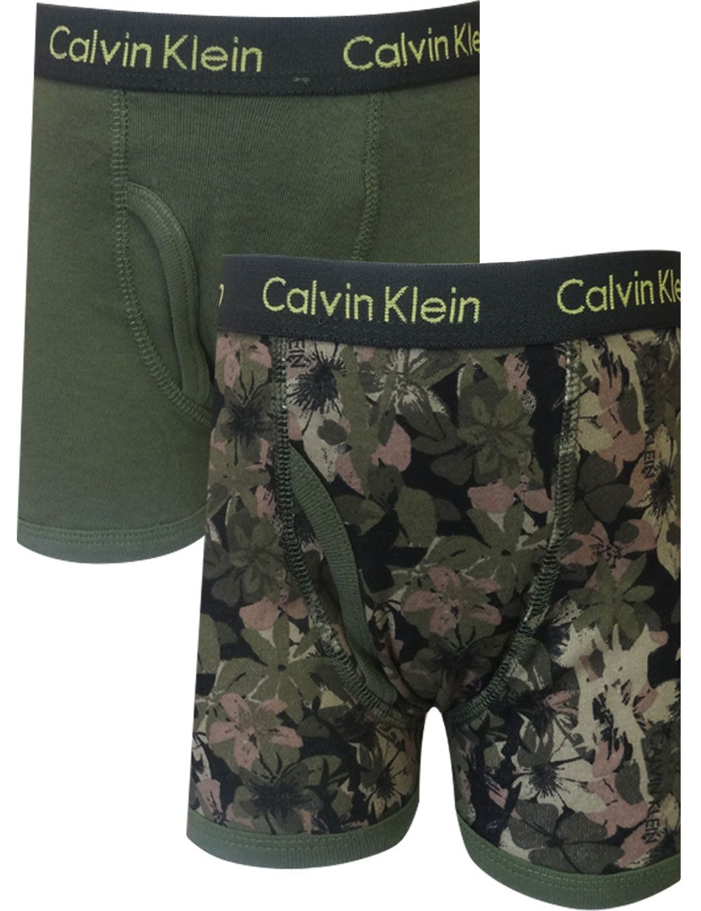 Calvin Klein Boys Army Green And Camo 2 Pack boxer briefs This is ...
