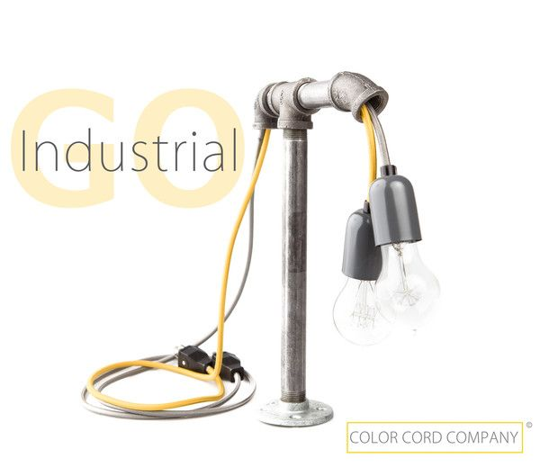 Diy Industrial Desk Lamp With Images Industrial Desk Lamp Industrial Table Lamp Desk Lamp