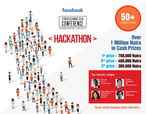 CyberXchange Hackathon Conference is a Facebook sponsored tech event that will be hitting Africa for the very first time and Lagos, Nigeria has been chosen to be its first point of call!
