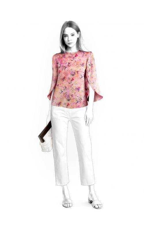 Blouse - Sewing Pattern #4644 Made-to-measure sewing pattern from ...
