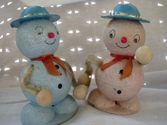 Roly-Poly snowmen made in Japan.