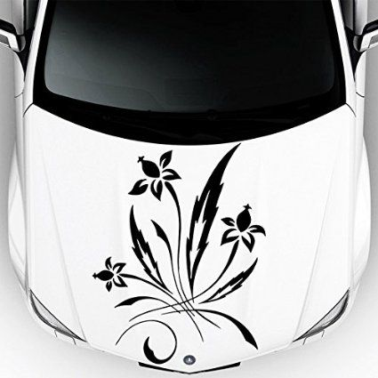 Car Decals Hood Decal Vinyl Sticker Flower Floral Pattern Auto - Vinyl decals cartribal hearts decal vinylgraphichood car hoods decals and
