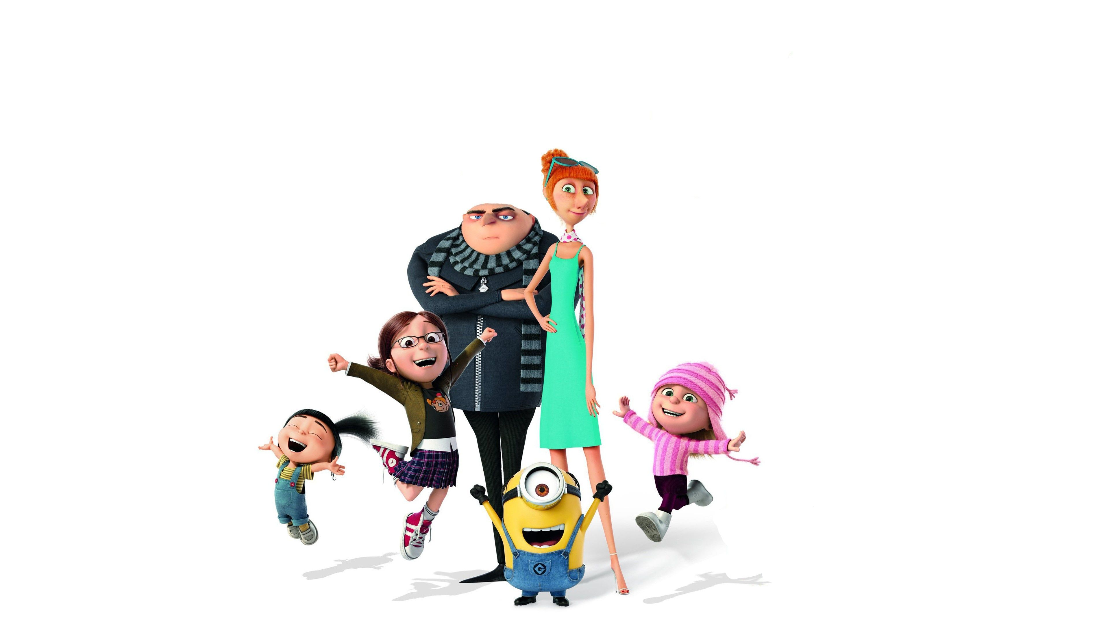 4k gru lucy wilde margo agnes edith and minions