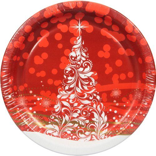 Great paper Christmas plates! | Stylish paper plates and napkins ...