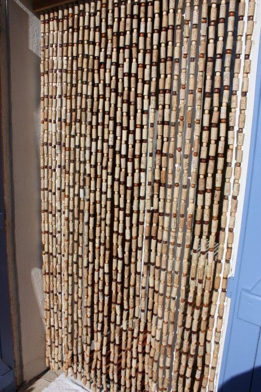 rideau bouchons brico d co pinterest bouchons bouchons de li ge et li ge. Black Bedroom Furniture Sets. Home Design Ideas